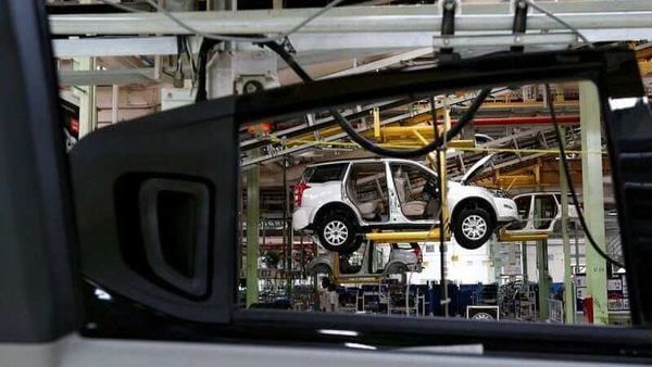 FILE PHOTO: A Mahindra XUV500 is pictured at the assembly line inside the company's manufacturing plant in Chakan, India. (REUTERS)