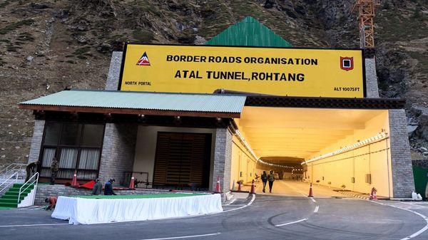 Atal Tunnel at Manali Leh Highway.