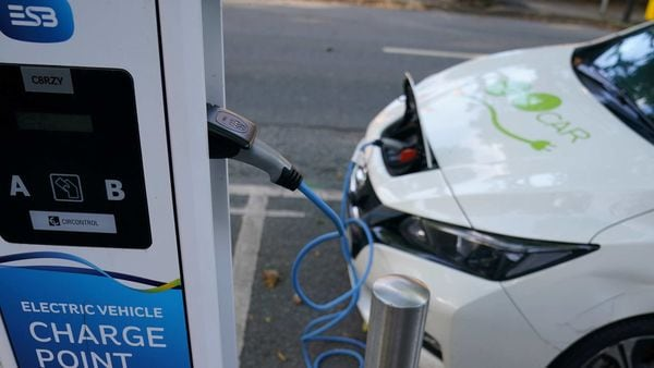 Representational photo of an electric vehicle charging (REUTERS)