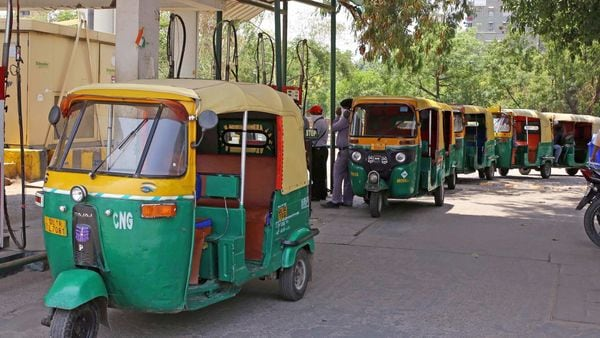 File photo of autorickshaws lining up for CNG filling used for representational purpose only