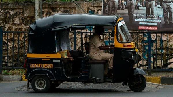 An auto rickshaw driver in Mumbai (AFP)