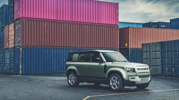 Land Rover Defender strikes a pose at Mumbai's Jawaharlal Nehru Port Trust.