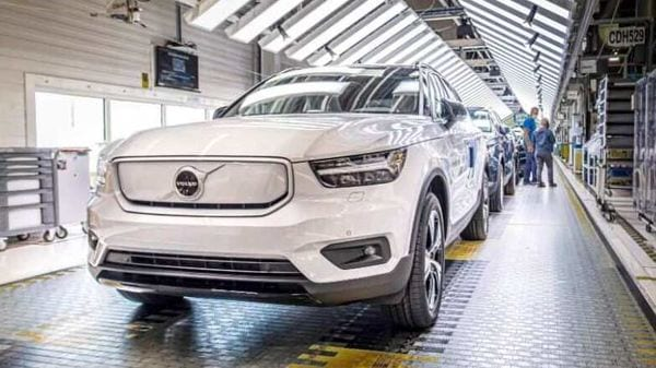 Volvo XC 40 EV at the company's manufacturing facility in Belgium's Ghent.