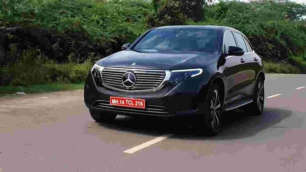 Mercedes EQC is an all-electric SUV which is slated arrive in India as a CBU import. (HT Auto/Sabyasachi Dasgupta)