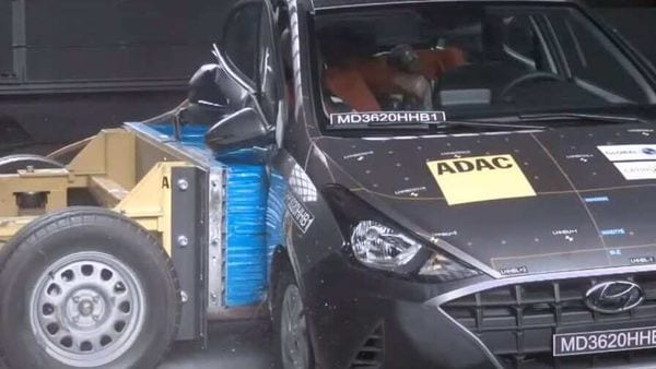 Screengrab from a video of the safety test on Hyundai HB20 posted by Latin NCAP.