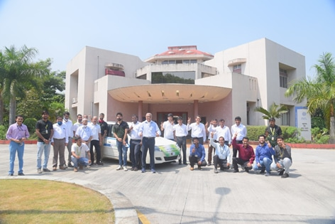 The hydrogen fuel-cell vehicle's trials were conducted by The Council of Scientific and Industrial Research (CSIR) and KPIT Technologies
