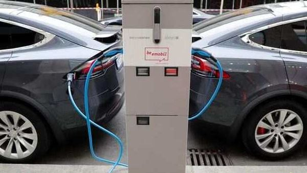 File photo of electric vehicles charging used for representational purpose only. (REUTERS)