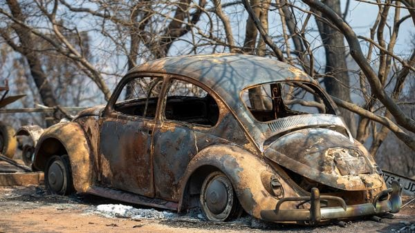 File photo of a burnt Volkswagen Beetle in California wildfire used here for representational purpose. (AP)