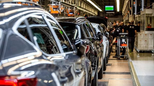 File photo of the production line at Seat, a unit of Volkswagen AG. (Bloomberg)