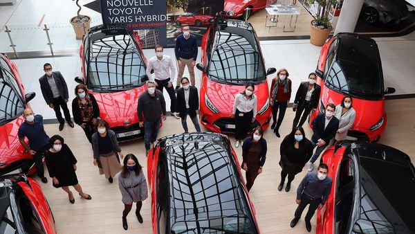 150 Toyota employees get the new Yaris Hybrid in France to promote clean energy and become ambassador for the new car.
