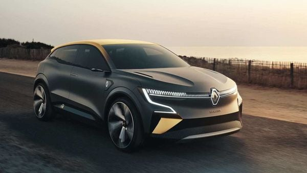 Renault took the covers off its new concept electric vehicle Megane eVision.