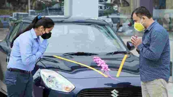 File photo of Maruti Suzuki car dealership