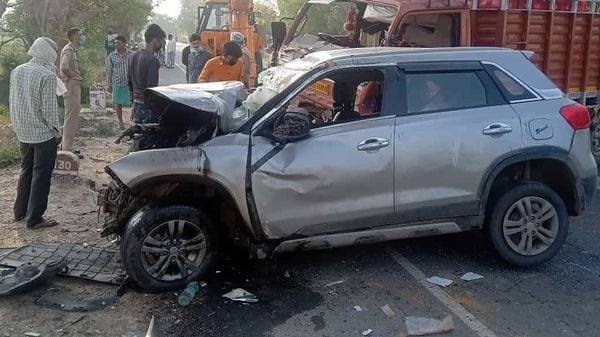 A damaged Brezza car after an accident. (File photo)