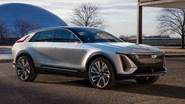 The new Cadillac Lyriq, one of the electric vehicles that General Motors said that its Spring Hill, Tennessee, factory will begin to produce. (via REUTERS)