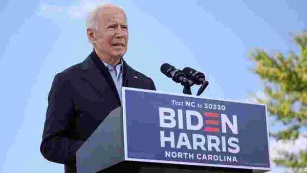 FILE PHOTO: US Democratic presidential candidate Joe Biden delivers remarks at a voter mobilization event at Riverside High School in Durham, North Carolina, US. (REUTERS)