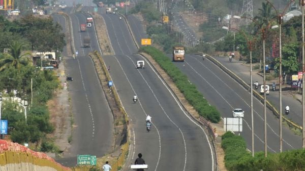 Solapur-Pune national highway wears a deserted look during the nationwide lockdown to curb the spread of coronavirus. (PTI)