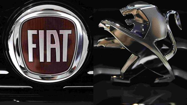 File photo: Logos of Fiat (L) and Peugeot (R)