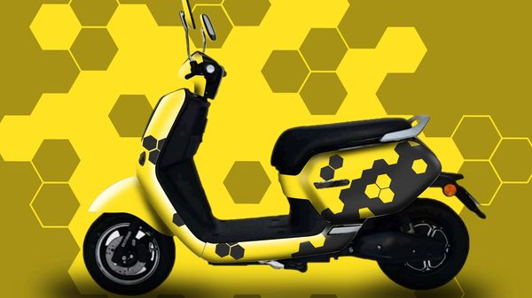 Representational image of Okinawa e-scooter with a customer 'Honeycomb' hand paint job.