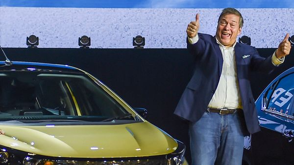 File photo of Guenter Butschek, CEO and MD, Tata Motors, at the launch of Altroz in Mumbai. (PTI)