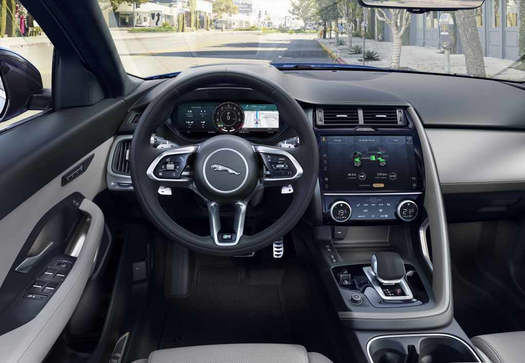 Inside, the new E-Pace gets a new 11.4-inch touchscreen infotainment system which is almost double the size it was in the preceding E-Pace models. The new touchscreen now uses the latest Pivi Pro software and aims to provide improved graphics and connectivity features.