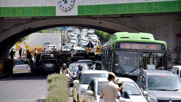 Representational photo of a massive traffic jam in New Delhi.