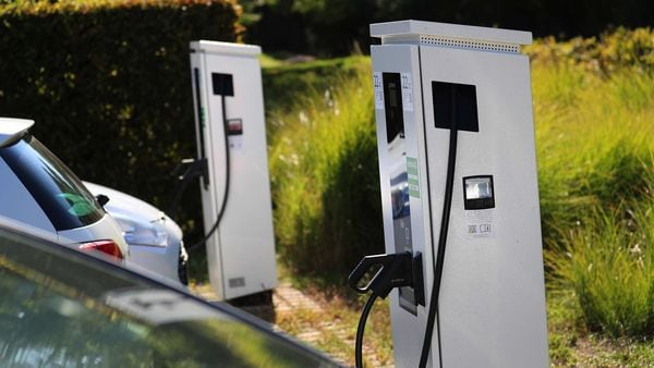 The emphasis on EV adoption needs to be backed by support for expanding EV infrastructure. (File photo used for representational purpose) (Bloomberg)