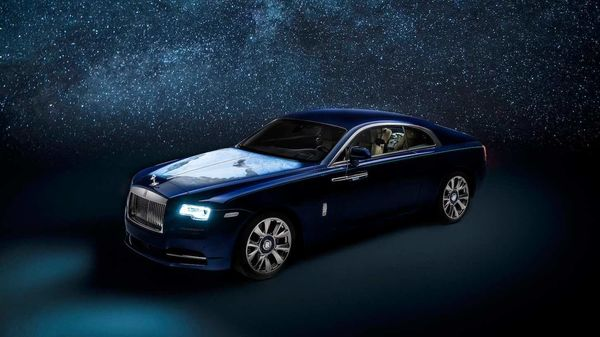 It took more than 100 hours to complete the artwork on the bonnet of the Rolls-Royce Bespoke Wraith.