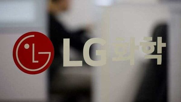 The logo of LG Chem is seen at its office building in Seoul, South Korea. (File Photo) (REUTERS)