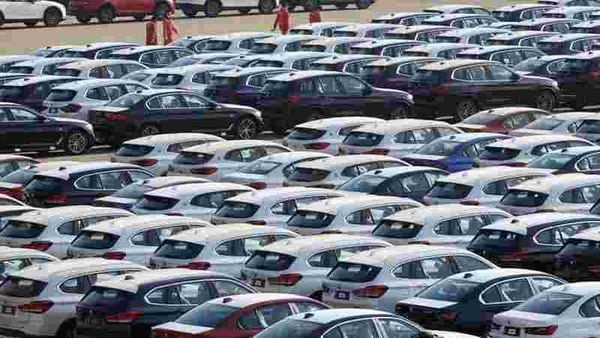 Newly manufactured cars are seen at a port in Dalian, Liaoning province, China. (File photo) (REUTERS)