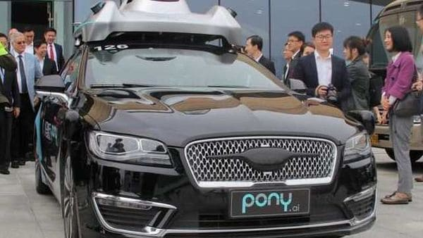 File photo: An autonomous vehicle of self-driving car startup Pony.ai (REUTERS)