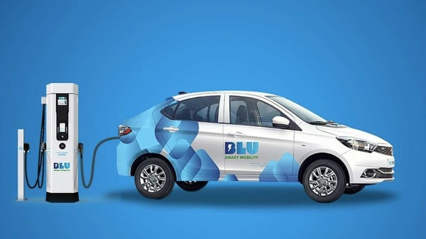Electric taxi platform BluSmart is looking to raise $12 million in its third funding round to fund its expansion plans. (Photo courtesy: Twitter/BluSmartIndia)