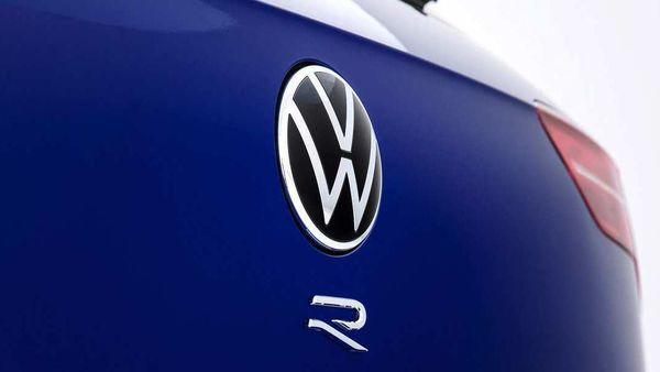 Volkswagen logo on the new Golf R