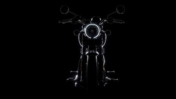 A silhouette image of the upcoming Royal Enfield Meteor 350 bike. (Photo courtesy: Twitter/@royalenfield)