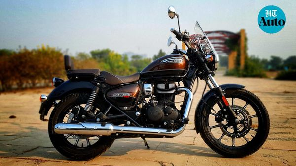 Royal Enfield Meteor 350 Supernova is the top-spec variant of the motorcycle and comes with a number of additional accessories. Image Courtesy: Sabyasachi Dasgupta