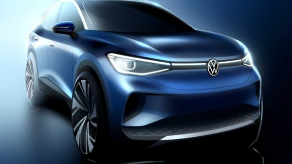 Representational image of VW ID.4 electric crossover concept.