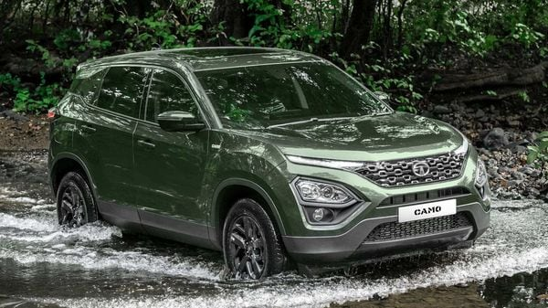 Tata Harrier CAMO edition seeks to up the menacing visual quotient of the SUV.