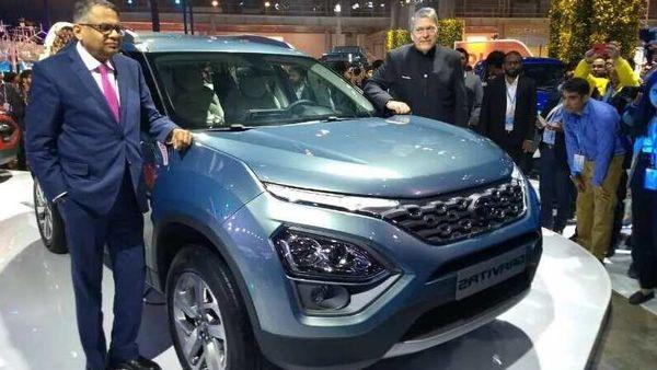 Tata Gravitas seven-seat SUV at the Auto Expo 2020
