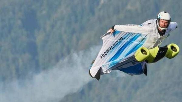 Electrified wingsuit by BMW