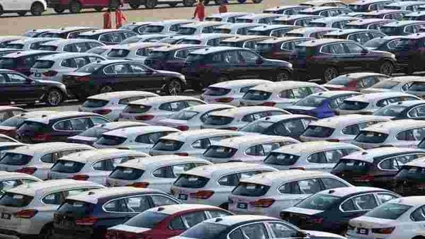 File photo of newly manufactured cars used for representational purpose only (REUTERS)