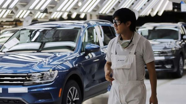File photo - Volkswagen Tiguan cars are pictured in a production line at company's assembly plant in Puebla, Mexico. (REUTERS)