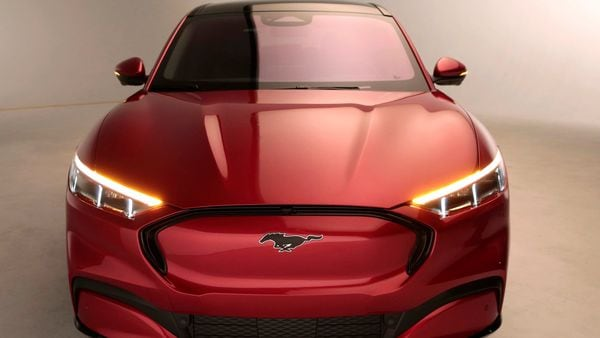 File photo - Ford Motor Co. showcases the all-new electric Mustang Mach-E vehicle.