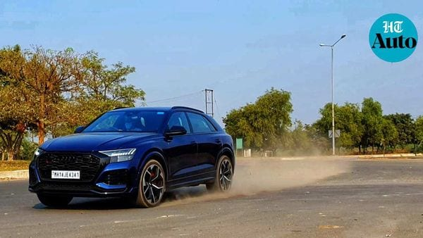 Audi RS Q8 is slightly faster than a Porsche Cayenne Turbo and only marginally short of figures achieved by Lamborghini Urus in a 0-100kmph sprint. (HT Auto/Sabyasachi Dasgupta)