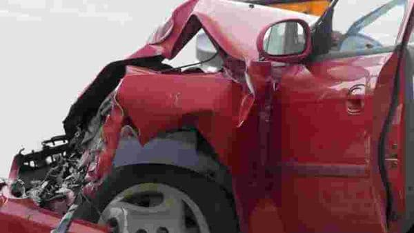 File photo of a crashed car used for representational purpose only