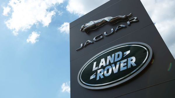 The Jaguar Land Rover logo is seen at a dealership in Britain. (File photo) (REUTERS)