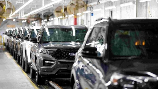 File photo of 2020 Ford Explorer cars seen at Ford's Chicago Assembly Plant in Illinois, US. (REUTERS)