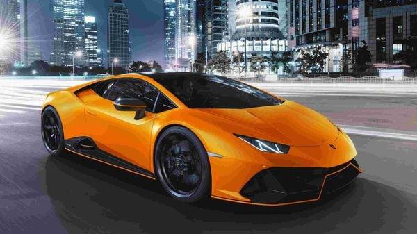 Lamborghini Huracan EVO Fluo Arancio Livrea (orange exterior)
