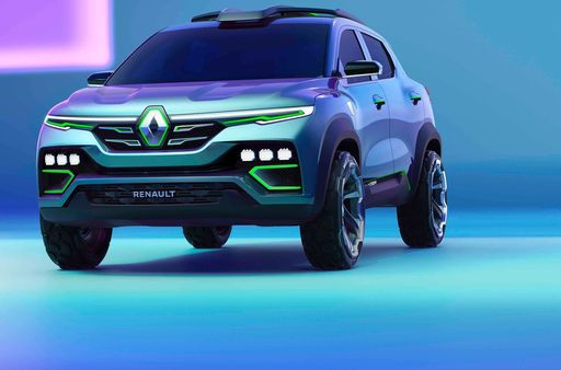 Renault Kiger in showcar form. The sub-compact SUV from the French car maker will be launched in India soon.