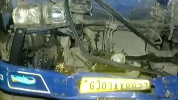 A collision between two trucks in Gujarat resulted in ten fatalities and 16 injuries. (ANI Photo)
