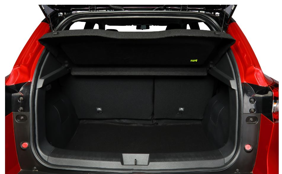 There is 336 litres of cargo space - the rear seats can be folded in 60:40 split - which is sufficient for a vehicle in this segment.