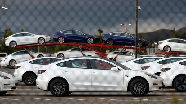 File photo - New Tesla electric vehicles are seen in a lot at Tesla's primary vehicle factory in Fremont, California. (REUTERS)